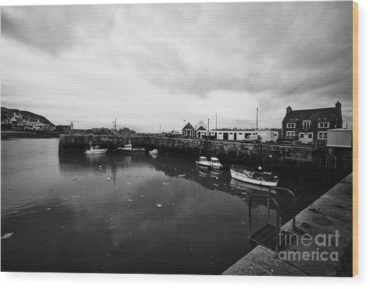 Portpatrick Harbour Scotland Uk Wood Print by Joe Fox