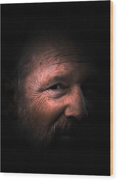 Portrait #1 Wood Print