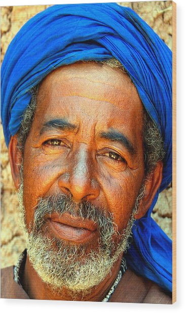 Portrait Of A Berber Man  Wood Print by PIXELS  XPOSED Ralph A Ledergerber Photography