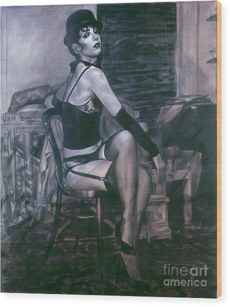 Portrait Of A Night Infatuation Wood Print