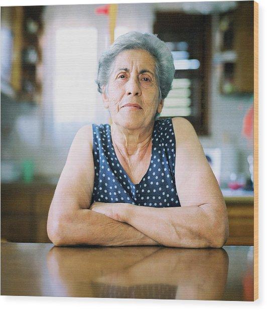 Portrait Of A Senior Woman Wood Print