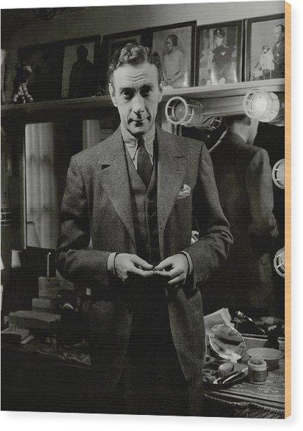 Portrait Of Actor Clifton Webb Wood Print