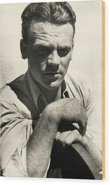 Portrait Of Actor James Cagney Wood Print by Imogen Cunningham