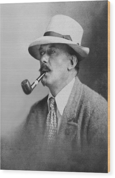 Portrait Of Aleister Crowley Wood Print