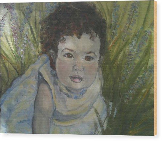 Portrait Of Alexandra Rose Wood Print