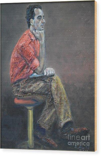 Portrait Of Ali Akrei - The Painter Wood Print