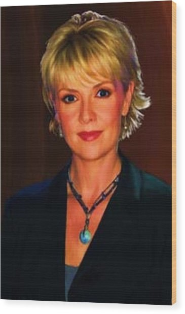 Portrait Of Amanda Tapping Wood Print