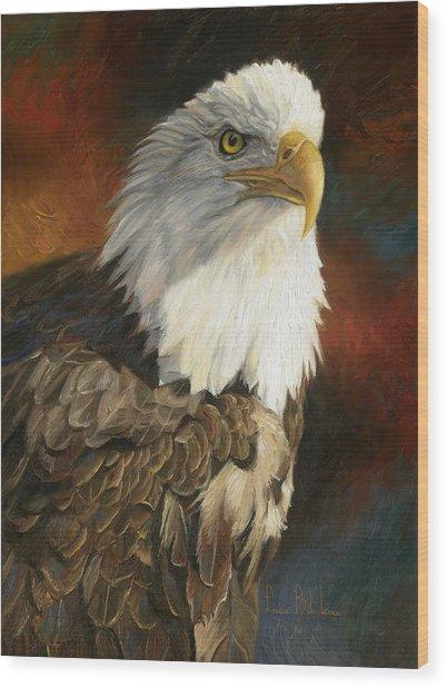 Portrait Of An Eagle Wood Print
