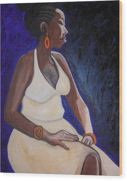 Portrait Of An Ethiopian Woman Wood Print