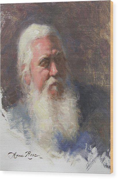 Portrait Of Artist Michael Mentler Wood Print