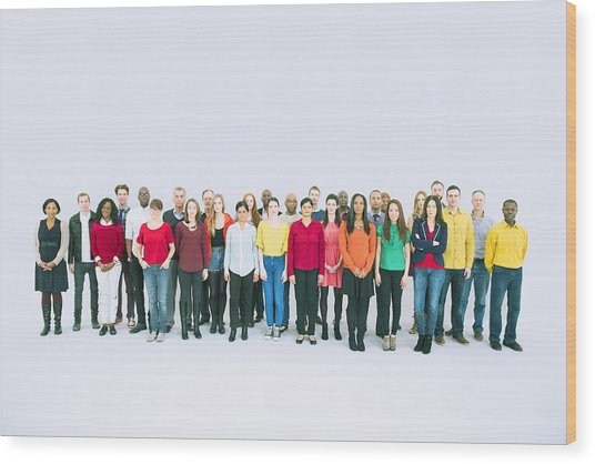 Portrait Of Business People Wood Print by Caiaimage/Robert Daly