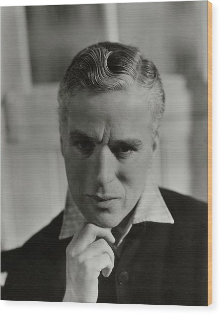 Portrait Of Charlie Chaplin Wood Print by George Hoyningen-Huene