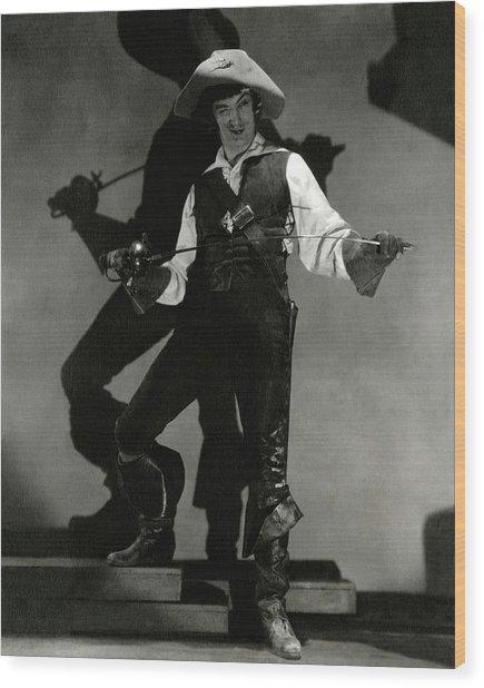 Portrait Of Dennis King In Costume As D'artagnan Wood Print