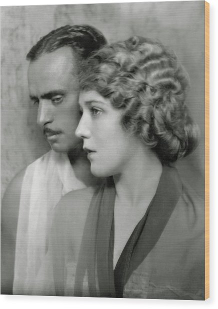 Portrait Of Douglas Fairbanks St. And Mary Wood Print