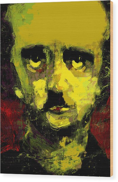 Portrait Of Edgar Allan Poe  Wood Print