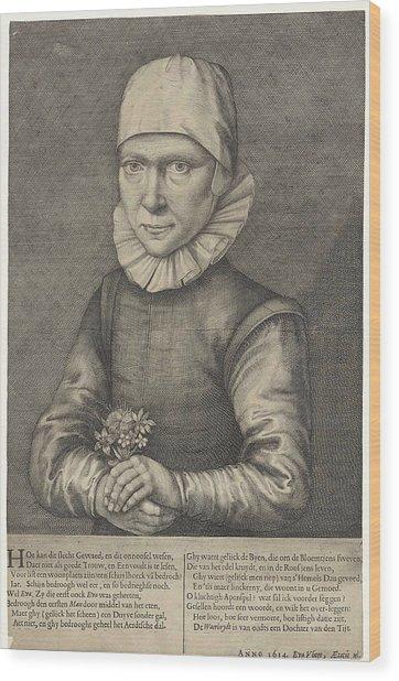 Portrait Of Eva Vliegen Wood Print