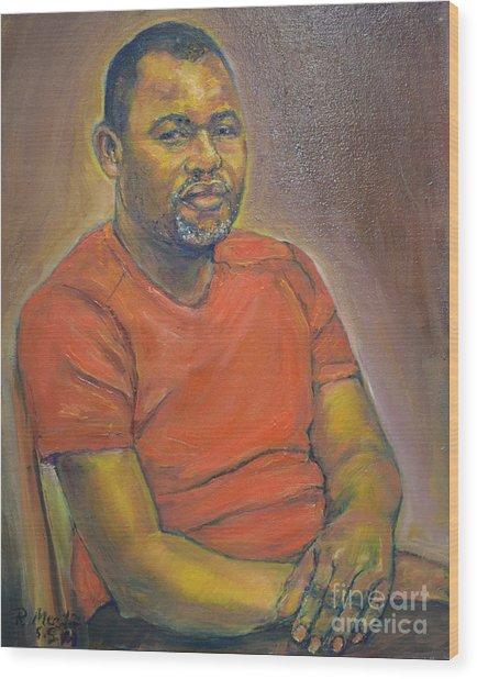 Portrait Of Felly 2 Wood Print