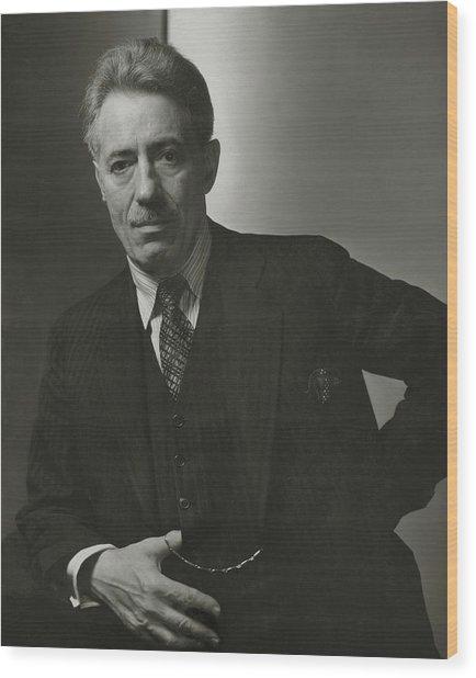 Portrait Of Fritz Kreisler Wood Print