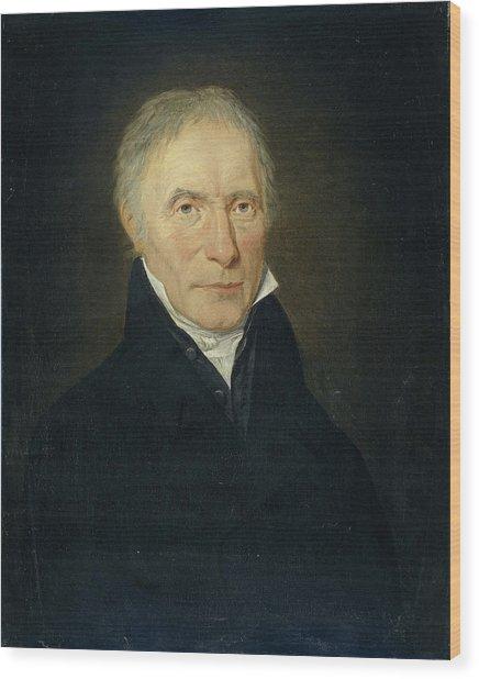 Portrait Of Heinrich Gottfried Theodor Crone Wood Print