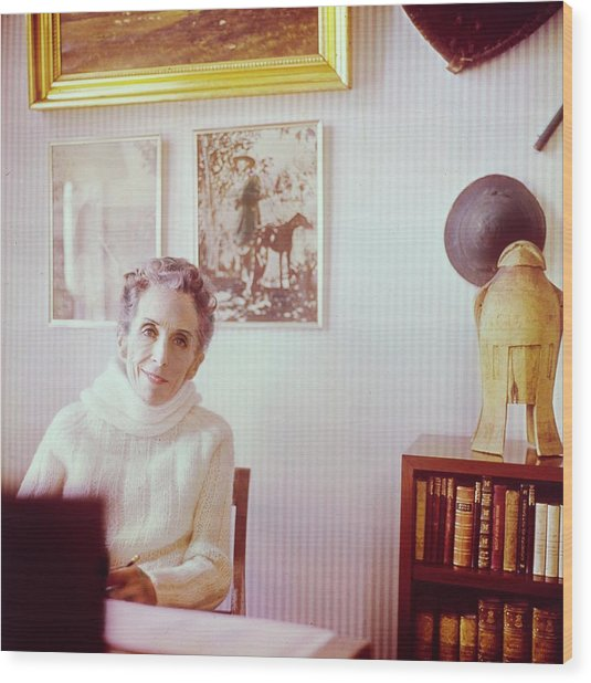 Portrait Of Isak Dinesen Wood Print