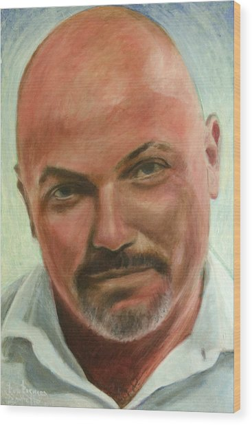 Portrait Of Jamez Ronald Prudlick Wood Print