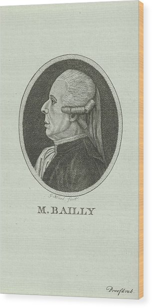 Portrait Of Jean Sylvain Bailly, 1736 - 1793, A French Wood Print by Quint Lox