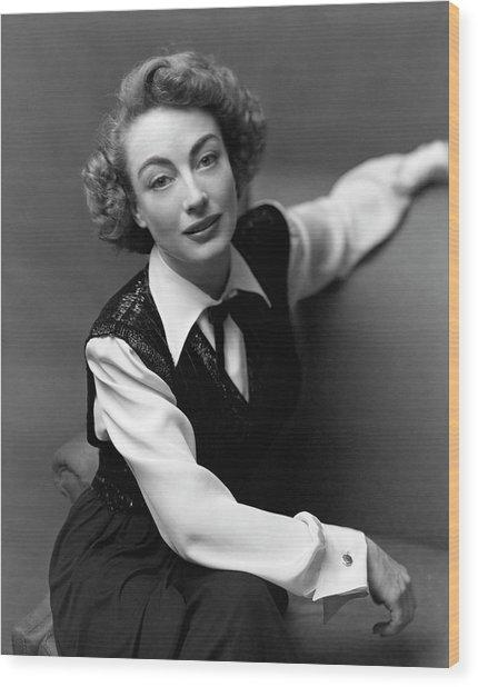 Portrait Of Joan Crawford Wood Print