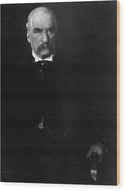 Portrait Of John Pierpont Morgan Wood Print by Edward Steichen