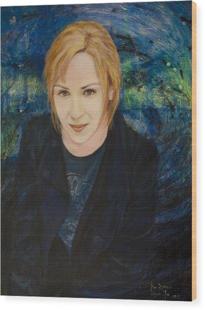 Portrait Of Katarzyna Magda Wood Print