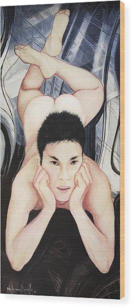 Portrait Of Konain Kwan Wood Print