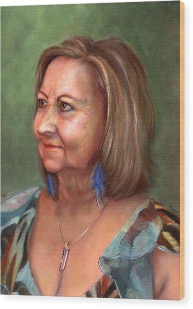 Portrait Of Lana Wood Print by Terri  Meyer