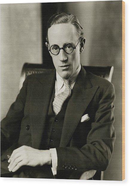 Portrait Of Leslie Howard Wood Print by Edward Steichen