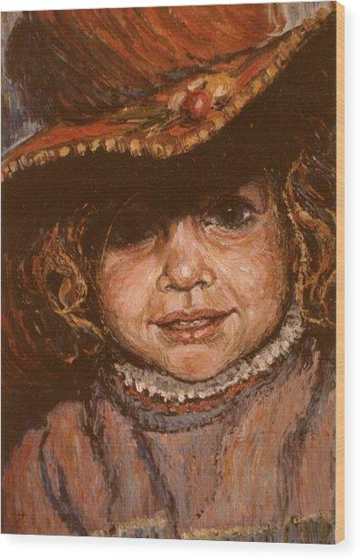 Portrait Of Leticia Wood Print