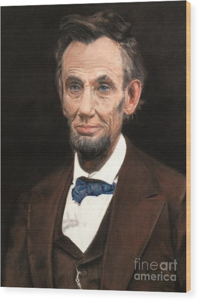 Portrait Of Lincoln Wood Print