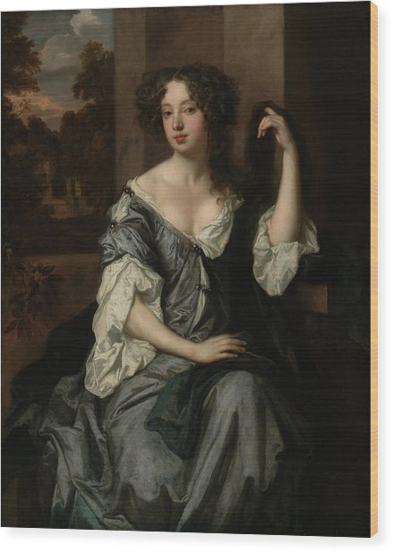 Portrait Of Louise De Keroualle, Duchess Of Portsmouth Wood Print by Litz Collection