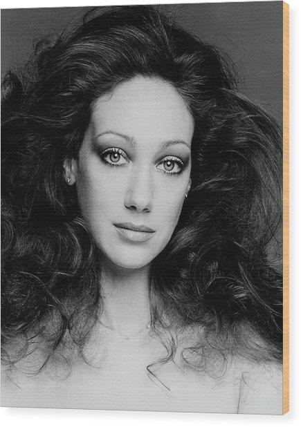 Portrait Of Marisa Berenson Wood Print