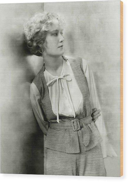 Portrait Of Miriam Hopkins Wood Print