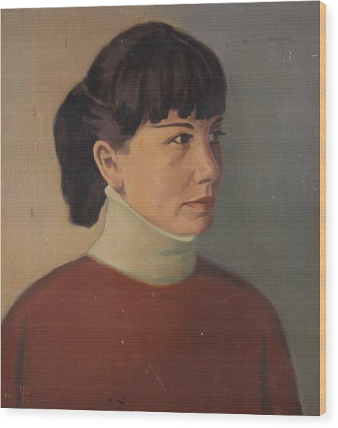 Portrait Of Miryana Wood Print by Stefan Shikerov