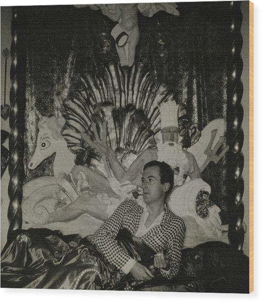 Portrait Of Photographer Cecil Beaton Wood Print