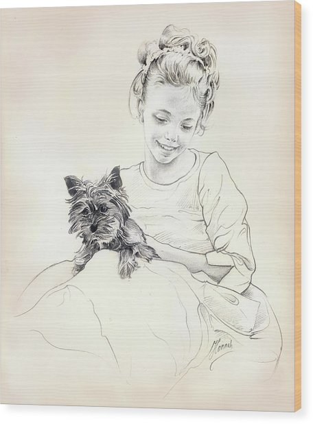 Portrait Of Sylwia Wood Print
