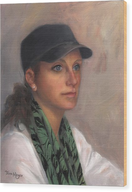 Portrait Of Taylor IIi Wood Print by Terri  Meyer