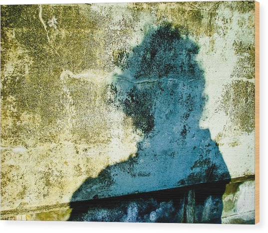 Portrait Of The Artist As Shadow 3 Wood Print by Ronda Broatch