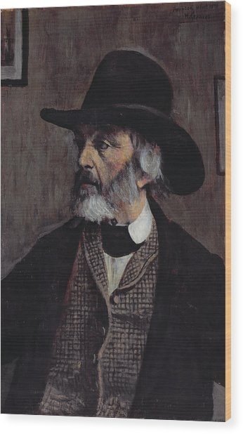 Portrait Of Thomas Carlyle 1795-1881 C.1879 Oil On Panel Wood Print