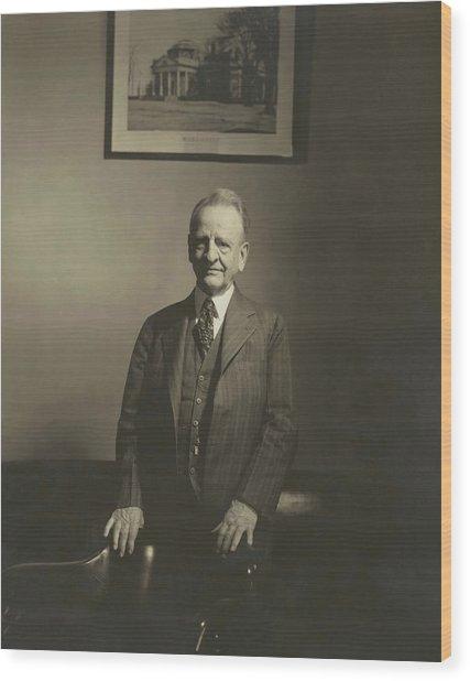 Portrait Of U.s. Congressman Wood Print
