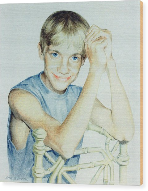 Portrait Of Yury Wood Print