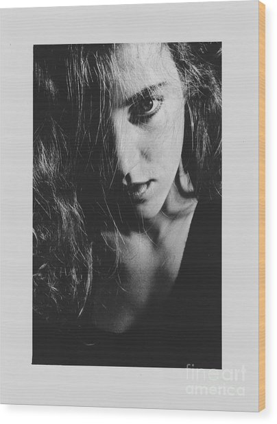 Portrait Woman Wood Print