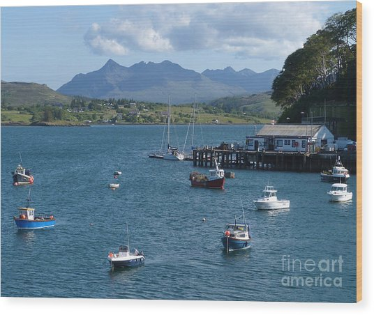 Portree Harbour - Isle Of Skye Wood Print