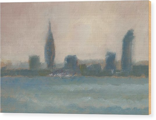 Portsmouth Dawn Part Four Wood Print by Alan Daysh