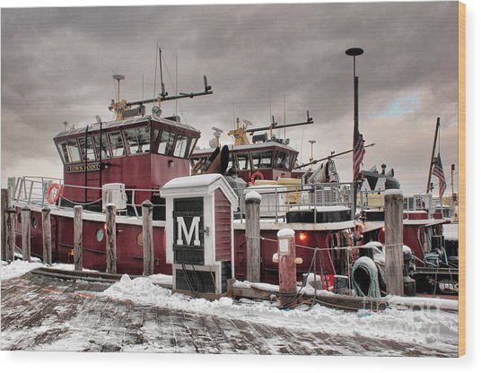 Portsmouth Tugboats Wood Print
