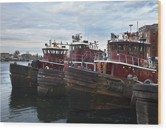 Portsmouth Tugs Wood Print